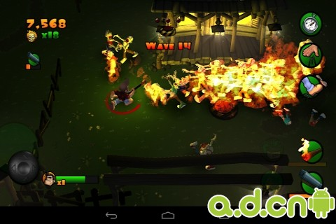 燃燒吧!殭屍(含數據包) Burn Zombie Burn! v1.2.0-Android动作游戏類遊戲下載