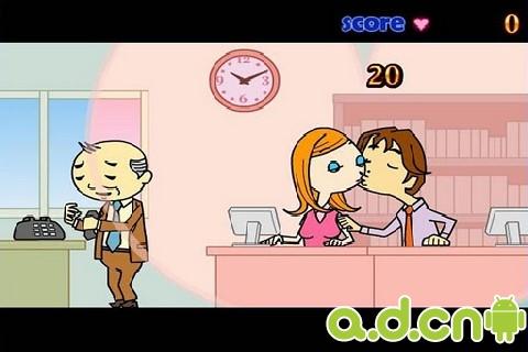 办公室偷吻美女与老板